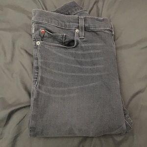 Hudson Krista Super Skinny Grey Jeans